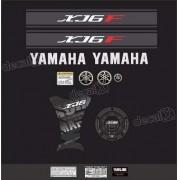 Kit Adesivo Emblema Yamaha Xj6f + Tankpad Resinado Xj6f1109