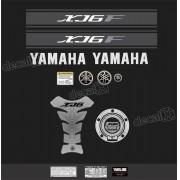Kit Adesivo Emblema Yamaha Xj6f + Tankpad Resinado Xj6f1110