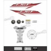 Kit Adesivo Emblema Yamaha Xj6f + Tankpad Resinado Xj6f1205