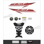 Kit Adesivo Emblema Yamaha Xj6f + Tankpad Resinado Xj6f1206
