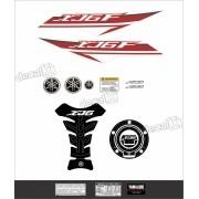 Kit Adesivo Emblema Yamaha Xj6f + Tankpad Resinado Xj6f1207