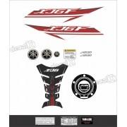 Kit Adesivo Emblema Yamaha Xj6f + Tankpad Resinado Xj6f1209