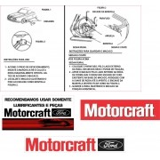 Kit Adesivo Etiqueta Motor Ford Corcel