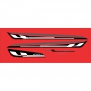 Kit Adesivo Faixa Chevrolet Onix Effect Vermelho Onix07