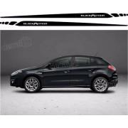 Kit Adesivo Faixa Lateral Fiat Bravo Blackmotion Bv01