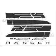 Kit Adesivo Faixa Lateral Ford Ranger Sport Xls 2015 Rg20156