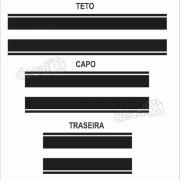 Kit Adesivo Faixas Capo, Teto E Mala Volkswagen Up Up115