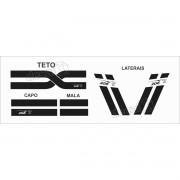 Kit Adesivo Faixas Laterais Capo, Teto E Mala Peugeot 206
