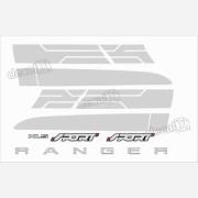 Kit Adesivo Faixas Laterais Ford Ranger Sport Xls 2015