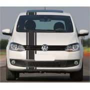 Kit Adesivo Faixas Volkswagen Fox Capo Teto E Mala Adc001