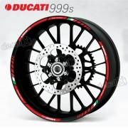 Kit Adesivo Friso Refletivo Roda Moto Ducati 999s Fri28