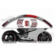 Kit Adesivo Friso Refletivo Roda Moto Ducati Corse Fri24