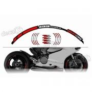 Kit Adesivo Friso Refletivo Roda Moto Ducati Fri23