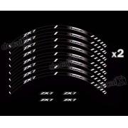 Kit Adesivo Friso Refletivo Roda Moto Kawasaki Zx-7 Fri101