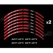 Kit Adesivo Friso Refletivo Roda Moto Yamaha Mt 07 Fri50