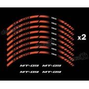 Kit Adesivo Friso Refletivo Roda Moto Yamaha Mt 09 Fri53