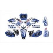 Kit Adesivo Moto Cross Trilha Yamaha Yz 250 2005 Mt038