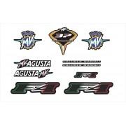 Kit Adesivo Mv Agusta F4 2014 Preta Ag012