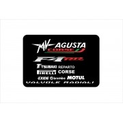 Kit Adesivo Mv Agusta F4 Preta Ag016