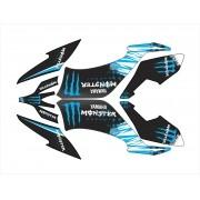 Kit Adesivo Quadriciclo Yamaha Raptor 250 2010 0,60mm 3m 016