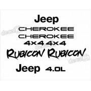 Kit Adesivo Resinado Cherokee Rubicon 1998 Chrb082