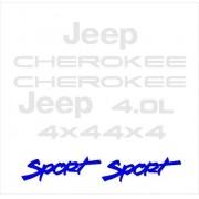Kit Adesivo Resinado Jeep Cherokee Sport Branca Chkrs01