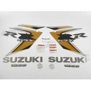 Kit Adesivo Suzuki Gsxr 1000 2008 Preta E Dourada 10008pd