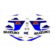 Kit Adesivo Suzuki Gsxr 750 2005 Azul E Branca 75005az