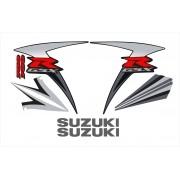 Kit Adesivo Suzuki Gsxr 750 2007 Preta E Prata 75007pp
