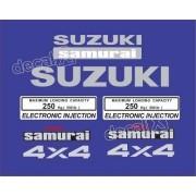 Kit Adesivo Suzuki Samurai 4x4 Azul Smraia