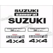 Kit Adesivo Suzuki Samurai 4x4 Branco Smraib