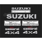 Kit Adesivo Suzuki Samurai 4x4 Preto Smraip
