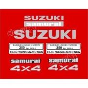 Kit Adesivo Suzuki Samurai 4x4 Vermelho Smraiv