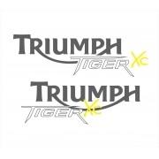 Kit Adesivo Triumph Tiger 800xc 800 Xc 2013 Laranja Tg005