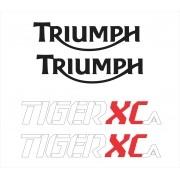 Kit Adesivo Triumph Tiger 800xca 800 Xca 2017 Branca Tg013