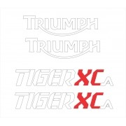 Kit Adesivo Triumph Tiger 800xca 800 Xca 2017 Preta Tg014