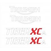 Kit Adesivo Triumph Tiger 800xca 800 Xca 2018 Preta Tg014