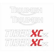 Kit Adesivo Triumph Tiger 800xcx 800 Xcx 2017 Azul Tg016