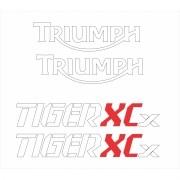 Kit Adesivo Triumph Tiger 800xcx 800 Xcx 2018 Preta Tg018