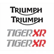 Kit Adesivo Triumph Tiger 800xr 800 Xr Branca Tg023