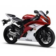 Kit Adesivo Yamaha R6 2009 Vermelha E Branca R609bv