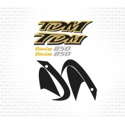 Kit Adesivo Yamaha Tdm 850 2000 Preta Tdm850 Yhtdm85014