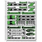 Kit Adesivos Capacete Kawasaki Z1000 Ktcp139