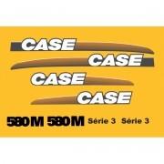 Kit Adesivos Case 580m Serie 3 - Decalx