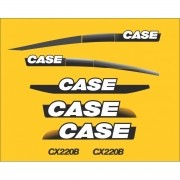 Kit Adesivos Case Cx220b - Decalx