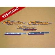 Kit Adesivos Crypton 2001 Azul Resinado