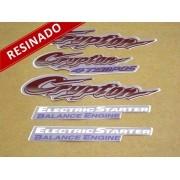 Kit Adesivos Crypton 2001 Prata Resinado
