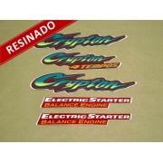 Kit Adesivos Crypton 2001 Vermelha Resinado