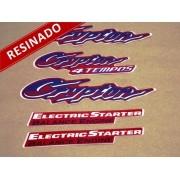 Kit Adesivos Crypton 2002 Vermelha Resinado