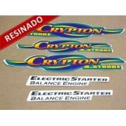 Kit Adesivos Crypton 2003 Verde Perolizado Resinado